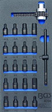 Porte-outils 1/3: Douilles de carter d'huile / Cle a chaine de filtre a huile 22 pcs