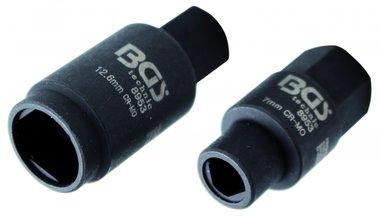3-pt. Douilles pour pompes d'injection, 7 et 12,6 mm