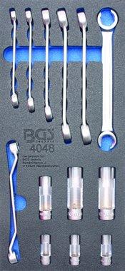 Porte-outils 1/3: Cle a ecrous evases et douille speciale 10 mm (3/8) 13 pcs