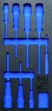 1/3 Plateau d'outils (408x189x32 mm), vide, pour jeu de tournevis 8 pieces VDE