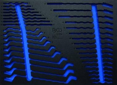 3/3 Bac d'Outil (408x567x32 mm), vide, pour 35-pieces Open End, Ring, Combination Spanner Set