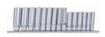 Jeu de 15 douilles longues profil convexe 3/8