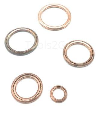 Assortiment de joints cuivres metallo-plastiques 150 pcs