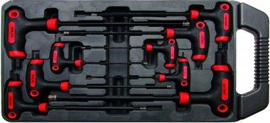 Ensemble de 9-pièces T-Handle Key pour Vis hexagonales internes