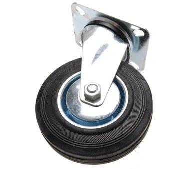 Roulette pivotante 125 mm, avec base