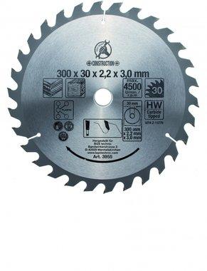 Lame de scie circulaire carbure, diametre 300 mm, 30 dent