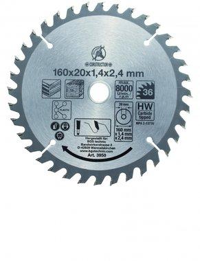 Lame de scie circulaire pointe de carbure, diametre 160 mm, dent 36