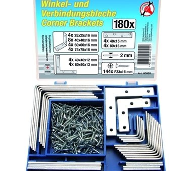 Ensemble de support d'angle, 180 pieces