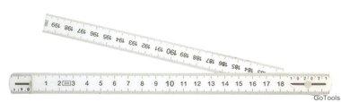 Regle de pliage, 10 segments, longueur 2 m