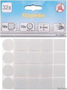 Jeu de protections antiderapants blanc 32 pieces