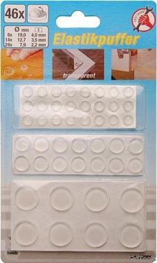 Ensemble de bouchon elastique 46 pieces, autocollant, transparent