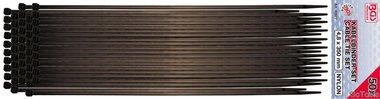 Ensemble de fixation de c ble de 50 pieces, 4,5 x 350 mm