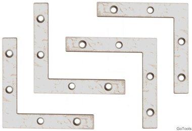 Kit en acier de 4 pieces en acier, 75x75x12 mm