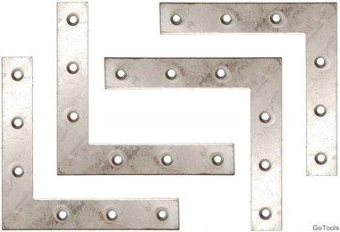 Kit en acier de 4 pieces en acier, 100x100x15 mm