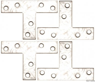 Kit en acier de 4 pieces en acier, 70x50x16 mm