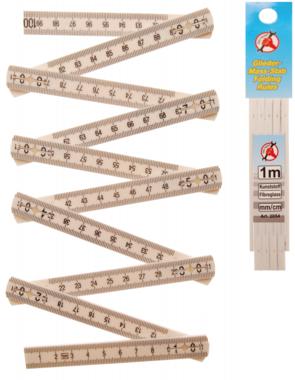 Règle de pliage, 10 segments, longueur 1 m