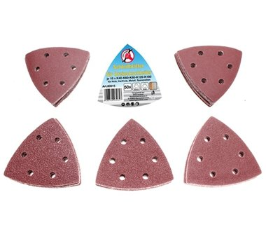 Plaques de ponçage à 50 pièces pour les ponceuses triangulaires