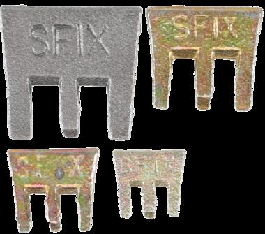 S-Fix Claws Wedges Set, 4 pièces.