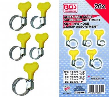 Assortiment de colliers de serrage, 26 pcs.