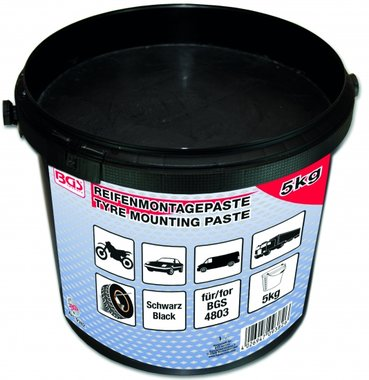 Reifenmontagepaste, noir, seau de 5 kg