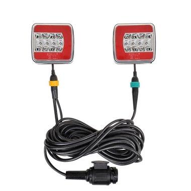 Kit d'eclairage LED 4F magnethique 7,5+2,5M c ble 13P.