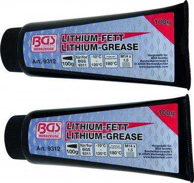 Graisse de lithium pour pistolet graisse BGS 9311, 2 tubes