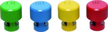 Bouchons de valve d'air des pneus codés par couleurs pour soupapes TPMS  4 pièces