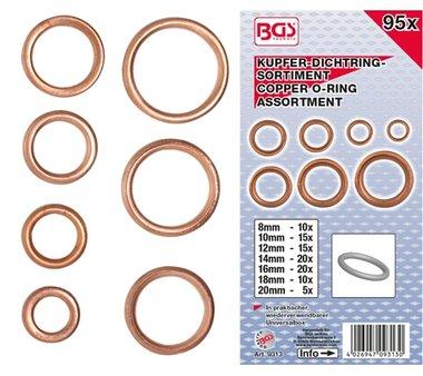 Assortiment en O-Ring en cuivre de 95 pieces 6-20 mm