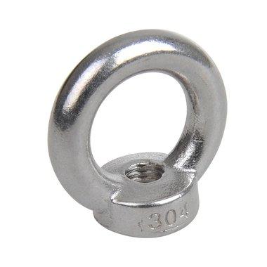 Ecrou anneau M10, A4 RVS AISI 316
