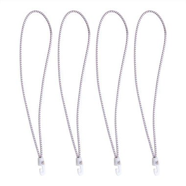 Sandow crochet nylon, 4 pieces dans poche, 35cm, blanc
