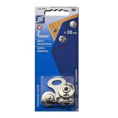Tenax Fermetures d'arr t, 20mm, 2 pieces dans blister