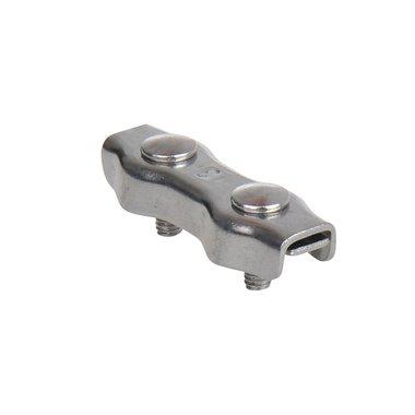 Duplex serre-c ble etrier 3mm, A4 RVS AISI 316
