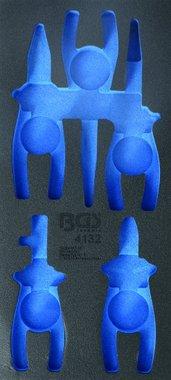 1/3 Bac outils (408x189x32 mm), vide, pour pince VDE 5 pieces Set