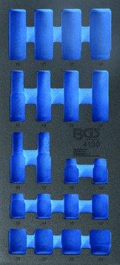1/3 Bote outils (408x189x32 mm), vide, pour jeu de choc d'impact de 20 pieces 10-24 mm