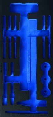 Bac outils 1/3 (408x189x32 mm), vide, pour marteau de 14 pieces avec t tes interchangeables et amortisseur et ensemble de cisaillement