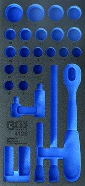 Bac outils 1/3 (408x189x32 mm), vide, pour jeu de douilles 1/2 pieces