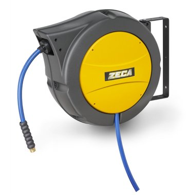 Enrouleur tuyau d'air comprime 25+1.5m - 10mm avec tuyau kpu