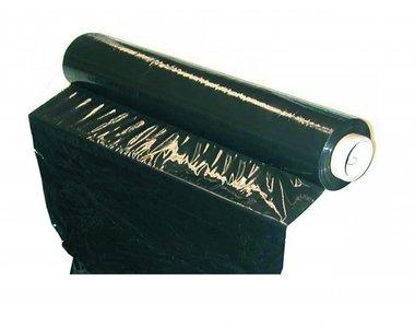 Feuille extensible en plastique, noire