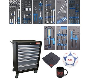 Chariot d'atelier 7 tiroirs avec 120 outils