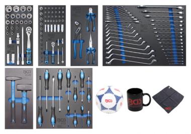 Chariot d'atelier 7 tiroirs avec 129 outils