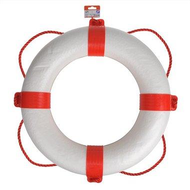 Bouee de sauvetage 550mm, blanc - rouge