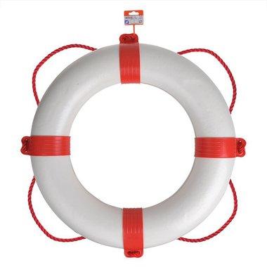 Bouee de sauvetage 600mm, blanc - rouge