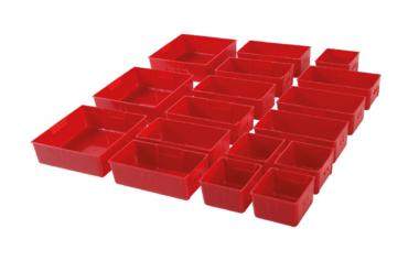 Plateaux de strorage en plastique pour chariot d'atelier 17 pcs.