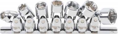 Jeu de cles douilles de 10 mm (3/8 po) de diametre 3/8 po - 3/4 po (pouces) 7 pieces