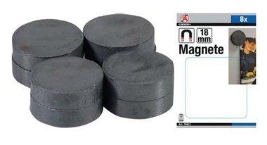 Magnet Set ceramique Dia 18 mm 8 pcs
