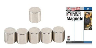 Jeu magnetique extra fort diametre 9,5 mm 6 pcs