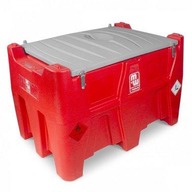Cuve diesel rouge pe 440i, 40l pompe 12v, tuyau + pistolet auto