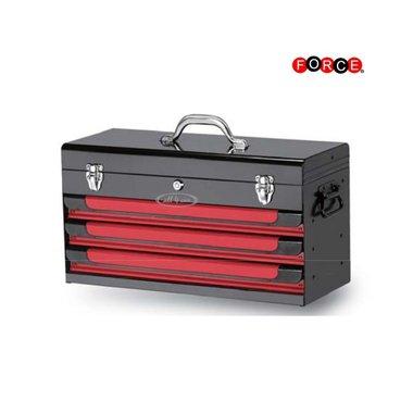 Glory top 3 tiroirs rouge et noir (peinture brillante)