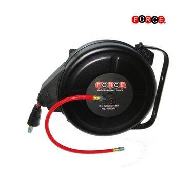 Enrouleur de tuyau d'air a reenroulement automatique (5 / 16x15M)