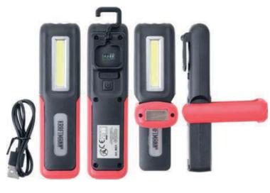 Lampe de poche de travail COB-LED
